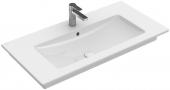Villeroy & Boch Venticello - Schrankwaschtisch 800 x 500 mm mit Überlauf stone white mit CeramicPlus
