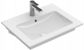 Villeroy & Boch Venticello - Waschtisch 650 x 500 mm mit Überlauf stone white mit CeramicPlus