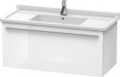 Duravit x-Large - Waschtischunterbau weiß hochglanz dekor 1000 mm