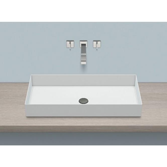Alape AB.ME750 - Aufsatzbecken rechteckig 750 x 375 mm weiß