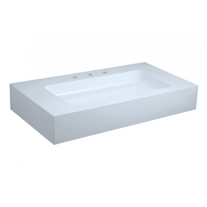 Keuco Edition 300 - Drop-in washbasin for Console 950x525mm with 3 tap holes with concealed overflow wit without Coating