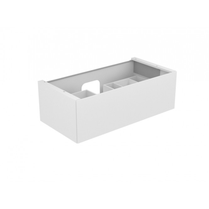 Keuco Edition 11 - Vanity unit 31251, 1 drawer with illumination, white / white