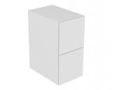 Keuco Edition 11 - Sideboard Beleuchtung 2 Frontauszüge weiß / Glas weiß satiniert