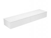 Keuco Edition 400 - Sideboard 31771 2 Auszüge weiß / Glas weiß klar