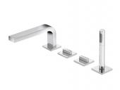 Keuco Edition 11 - 4-hole deck-mounted bathtub fitting met 2 consumenten chromium