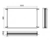 Emco Asis Prestige - Einbaurahmen für Lichtspiegelschrank 1010 x 660 mm