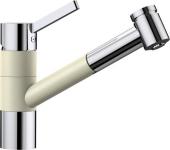 Blanco Tivo-S - Küchenarmatur Silgranit-Look zweifarbig Hochdruck jasmin/chrom