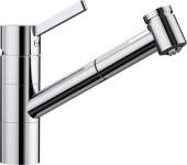 Blanco Tivo-S - Küchenarmatur metallische Oberfläche Niederdruck chrom