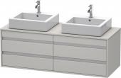 Duravit Ketho - Waschtischunterschrank wandhängend 550x1400x496mm 4 Auszüge für 2 ASB betongrau matt