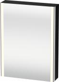 Duravit XSquare - SPS mit Beleuchtung 800x600x155 schwarz hochglanz Türanschlag links