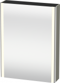 Duravit XSquare - SPS mit Beleuchtung 800x600x155 steingrau seidenmatt Türanschlag links