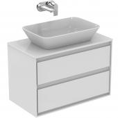 Ideal Standard Connect Air - Waschtisch-Unterschrank 800 x 440 x 517 mm weiß glänzend / matt