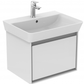 Ideal Standard Connect Air - Waschtisch-Unterschrank weiß glänzend / hellgrau matt