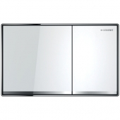 Geberit Sigma60 - Betätigungsplatte für 2-Mengen-Spülung Glas weiß