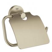 Grohe Essentials - WC-Papierhalter mit Deckel nickel gebürstet