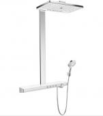 Hansgrohe Rainmaker Select 460 - 3jet Showerpipe EcoSmart weiß / chrom