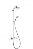 Hansgrohe Croma - Showerpipe EcoSmart Brausearm schwenkbar DN15