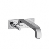 Hansgrohe Axor Citterio - Single Lever Basin Mixer for concealed installation with plate and spout 225 mm, wall mounting, DN15
