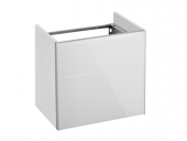Keuco Royal Reflex - Vanity unit 34090, hinge right, 1 door, titanium / titanium