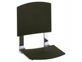 Keuco Plan care - Folding seat black gray / chrome