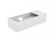 Keuco Edition 11 - Vanity unit 31163, 1 pan drawer, with lighting, white high gloss / white high gloss