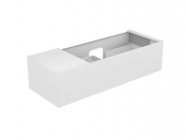 Keuco Edition 11 - Vanity unit 31164, 1 pan drawer, with lighting, white high gloss / white high gloss