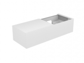 Keuco Edition 11 - Vanity unit 31166, 1 pan drawer, with lighting, white high gloss / white high gloss