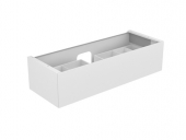 Keuco Edition 11 - Vanity unit 31261, 1 pan drawer oak platinum / platinum oak