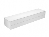 Keuco Edition 400 - Sideboard 31772 4 Auszüge weiß / Glas weiß klar