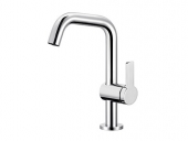 Keuco Plan - Single lever basin mixer 53905 blue, without waste, chrome