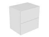 Keuco Edition 11 - Sideboard 31323 Beleuchtung 2 Front-Auszüge weiß / Glas weiß satiniert