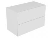Keuco Edition 11 - Sideboard 31325 Beleuchtung 2 Front - Auszüge weiß / Glas weiß satiniert