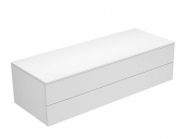 Keuco Edition 400 - Sideboard 2 Auszüge weiß / Glas weiß klar