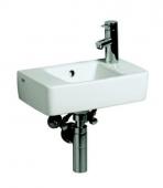 Keramag Renova Nr. 1 Plan - Handwaschbecken 400 x 250 mm mit Hahnloch mit Überlauf weiß mit KeraTect