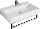Villeroy & Boch Memento - Washbasin 600x420mm with 1 tap hole with overflow wit met CeramicPlus