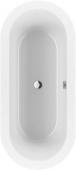 Villeroy & Boch Loop & Friends - Bath Oval & Friends 1800 x 800 white alpine Duo oval inner shape