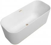Villeroy & Boch Finion - Badewanne Ventil Überlauf Design-Ring champagne white alpin