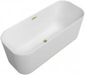 Villeroy & Boch Finion - Badewanne Ventil Überlauf Wasserzulauf gold white alpin
