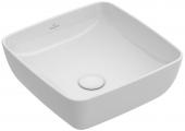 Villeroy & Boch Artis - Aufsatzwaschtisch 410 x 410 mm eckig mit CeramicPlus weiß