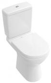 Villeroy & Boch O.novo - Tiefspül-WC Kombination spülrandlos 360 x 670 DF bodenstehend weiß alpin C+