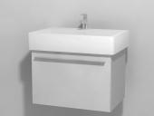 Duravit X-Large - Waschtischunterbau wandhängend Weiß Hochglanz Lack 650 mm