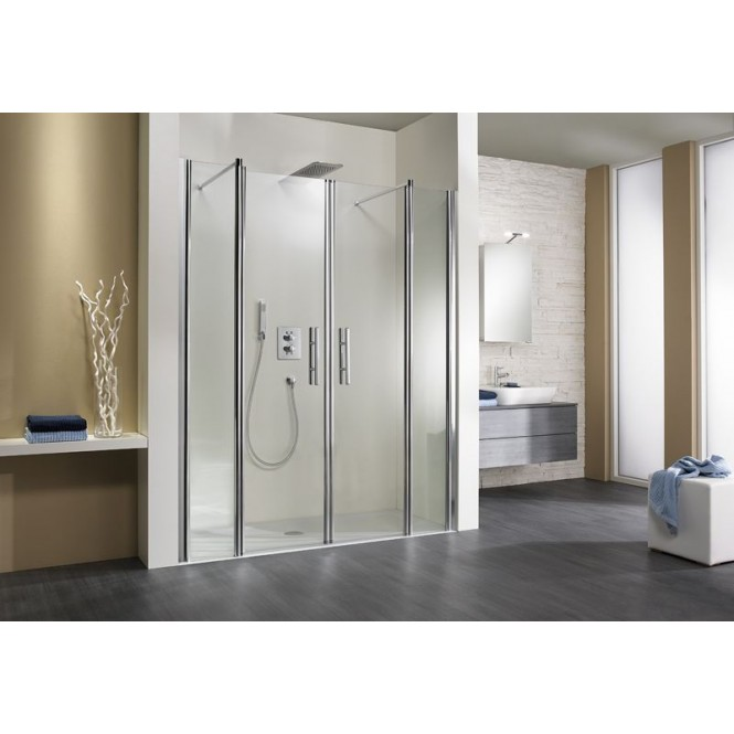 HSK - Room niche 4-piece, 41 chrome look custom-made, 52 gray