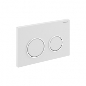 Geberit Kappa21 - Flush Plate for WC and 2 flushes chrome high gloss / chrome silk gloss / chrome high gloss
