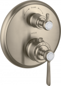 Axor Montreux - Thermostat UP F-Set Hebelgriff Absperr- / Umstellventil brushed nickel