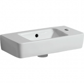 Geberit Renova Nr. 1 Comprimo - Handwaschbecken 500 x 250 mm Hahnloch rechts weiß mit KeraTect