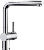 Blanco Linus-S - Küchenarmatur metallische Oberfläche Hochdruck chrom