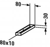 Duravit - Handtuchhalter Compact 478 x 80 x 30 mm montierbar seitlich an Konsole 480