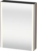 Duravit XSquare - SPS mit Beleuchtung 800x600x155 basalt matt Türanschlag links