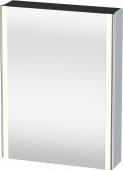 Duravit XSquare - SPS mit Beleuchtung 800x600x155 lichtblau seidenmatt Türanschlag links