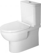 Duravit DuraStyle Basic - Stand-WC Kombi 650mm rimless Tiefspüler Abgang waagrecht HygieneGlaze weiß
